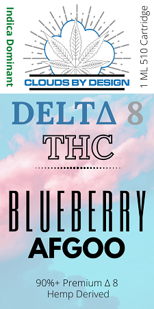 Clouds Delta 8 Blueberry AFGOO 1ML