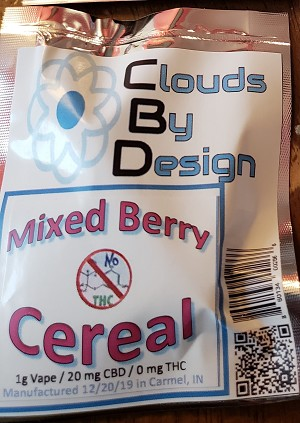 CBD Vape - Mixed Berry Cereal (1g Vape/20mg CBD)